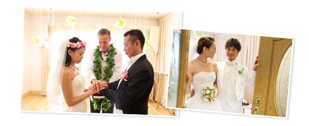 チャペルウエディング・新郎を見つめる花嫁