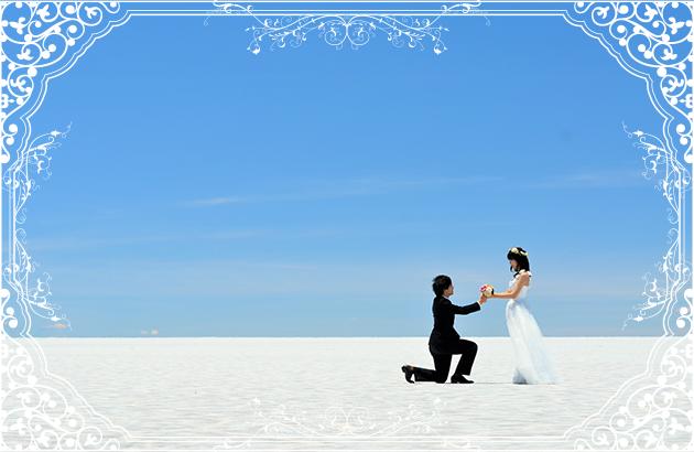 新婚旅行と一緒にビーチフォトができる