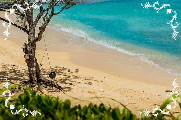 観光を兼ねてカイルアビーチでビーチフォト