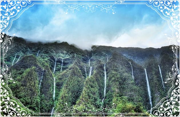 コオラウ山脈の滝