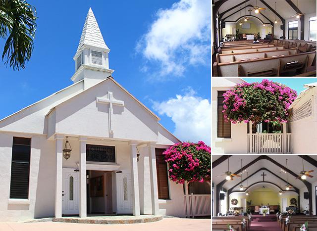 チャーチオブゴッド教会の外観