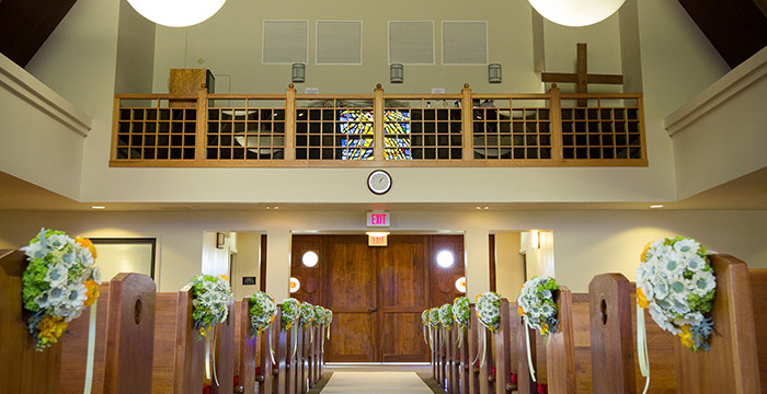 ユナイテッドチャーチオブクライスト教会内風景